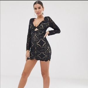 ASOS love triangle lace dress NWT